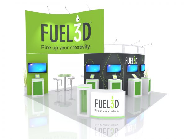 20x20 Island Exhibit by TradeShowMall.com